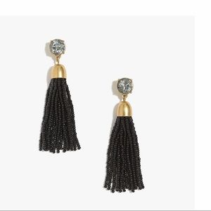 J CREW BEAUTIFUL BEADED  EARRINGS W/CUBIC ZIRCONIA